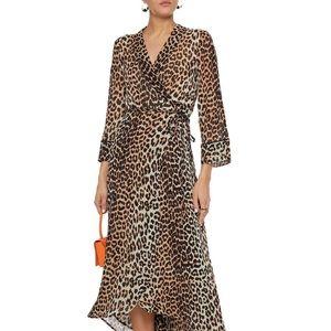 """Gianni """"Mullin"""" Leopard wrap dress"""